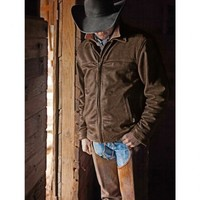STS Ranchwear Men's Rifleman Brown Leather Jacket - Sheplers
