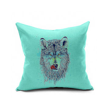 Cotton Flax Pillow Cushion Cover Animal   DW131