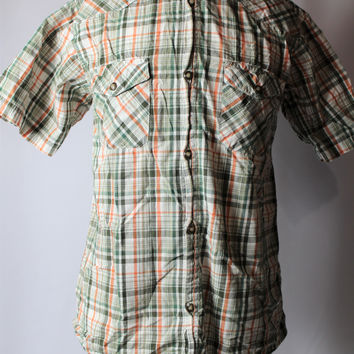 Boys Mossimo Plaid Short Sleeve Top, size Medium