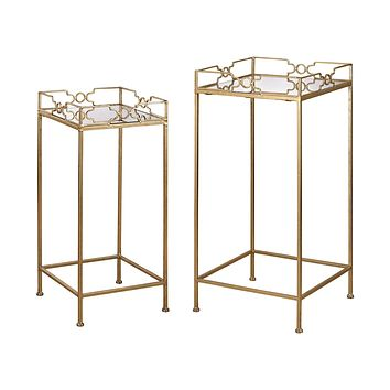 Bow Tie Mirrored Tables