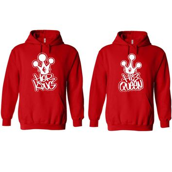 Graffiti King and Queen Red Hoodie