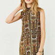 Motel Holly Mock Neck Dress - Urban Outfitters