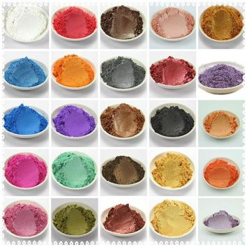 ICIKL3Z 42 Colors Mixed  Healthy Natural Mineral Mica Powder DIY For Soap Dye Soap Colorant makeup 1 Lot =5g/10g*42 colors =210g/420g