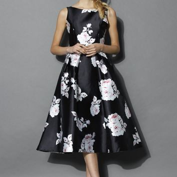 Rose Impression Prom Dress in Black