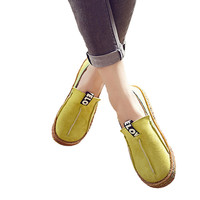 Round Toe Casual Pattern Wide Shallow Slip-on Oxford Shoes
