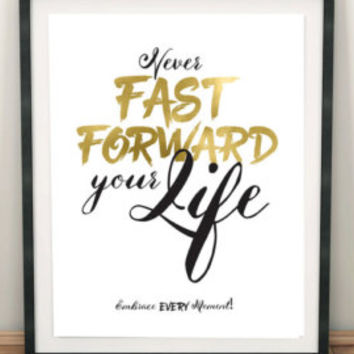 Never Fast Forward download, Printable Quote, Inspiring Art, typography design, Faith Art, christian home art, Ravi Zacharias quote