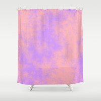 Cotton Candy Clouds - Pink & Purple Shower Curtain by Moonshine Paradise