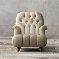 1860 Napoleonic Tufted Upholstered Chair