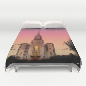 GLASS HOUSES Duvet Cover by Jessica Ivy
