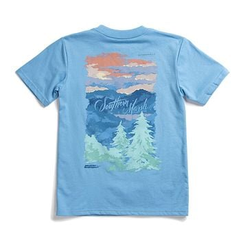 Youth Southern Horizons - Blue Ridge Tee by Southern Marsh