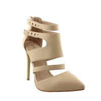 Nude Pump with Straps