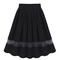 Pleated Chiffon Organza Skirt