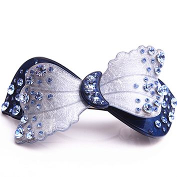 New Arrive Flower French Acetate Rhinestone Hair Clips crystal barrettes hairpins Hair Jewelry Hot sell AL04