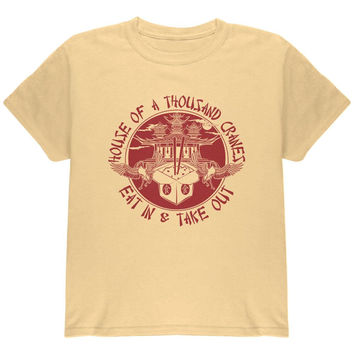 Vintage Asian Food - House of 1000 Cranes Youth T Shirt