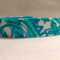 Alpha Delta Pi ( ADPi ) Sorority EmBands- Lilly Pulitzer Inspired Non-Slip Headband Head Band; Yoga Headband; Recruitment Headbands