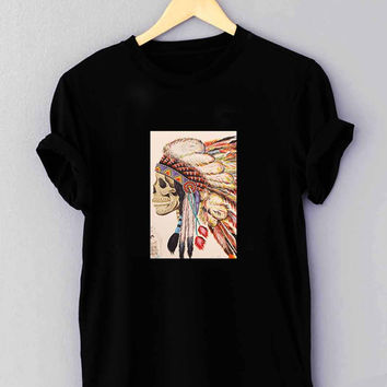 "native american headdress tattoo - T Shirt for man shirt, woman shirt ""NP"""