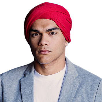 Man's Turban Head Wrap, Tactical Scarf Red