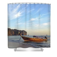 Long Tail boat Krabi Thailand Shower Curtain for Sale by Ivy Ho