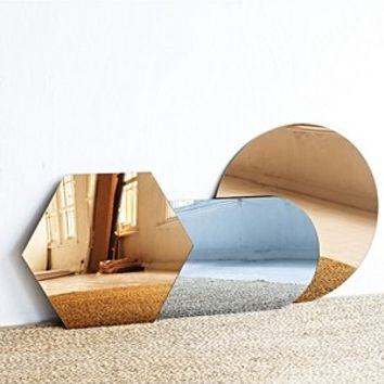 Amber Tinted Round Wall Mirror | Oliver Bonas