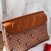 GUCCI x DISNEY joint embossed letters retro women's shoulder bag crossbody bag