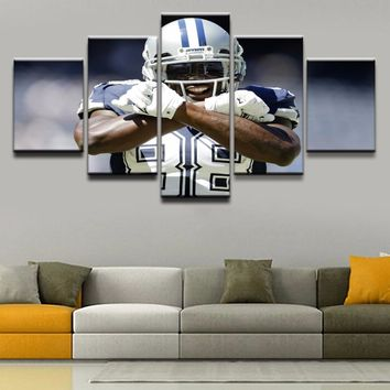 5 Pieces Unique Sports Poster Dallas Cowboys Canvas Painting Pictures Home Decorative For Living Room Wall Art Printed Artwork