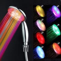 7 Color LED Shower Head Romantic Lights Water Home Bath