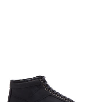 Etq Amsterdam Anthracite Leather High Top Sneakers