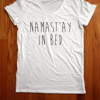 Namastay in bed shirt loose neck made in usa