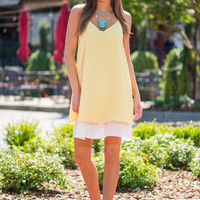 Picture Us Perfect Dress, Yellow