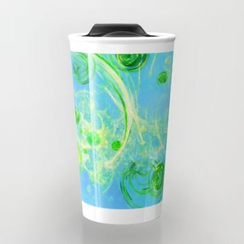 Summer Tree of Life - #Abstract #Art by Menega Sabidussi #society6 Travel Mug by Menega Sabidussi