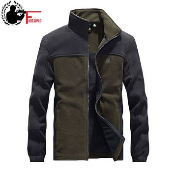 Military Tactical Fleece Hoodie Zipper Jacket Men Patchwork Army Style Zip Jacket Male Coat Red Green Black Plus Size 3XL 4XL