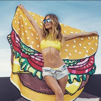Cheeseburger Round Beach Cover-up / Towel