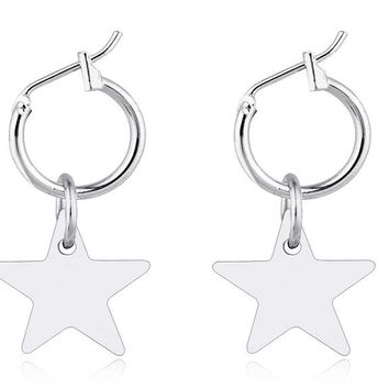 Endless Circle Hoop Star Earring For Women