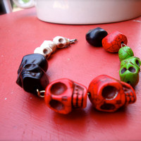 Skull Bracelet Halloween Jewelry for Women