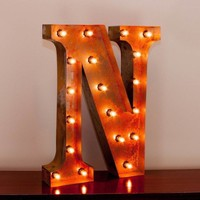 """24"""" Letter N Lighted Vintage Marquee Letters with Screw-on Sockets"""
