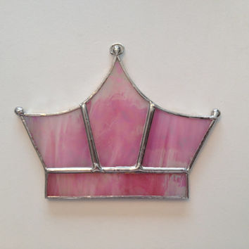Handmade Stained Glass Princess Crown Suncatcher