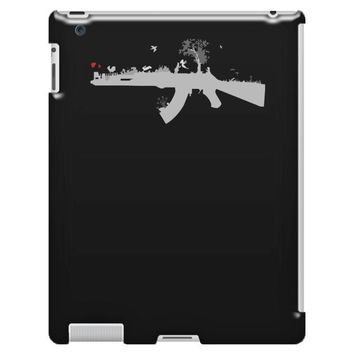 banksy style ak47 art   funny iPad 3 and 4 Case