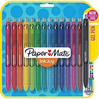 Paper Mate® InkJoy® Gel Pens, Medium Point, Assorted, 14/Pack (1951636) | Staples