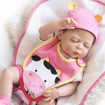 NPKCOLLECTION Truly Real Lifelike Reborn Baby Doll 23 Inch Full Silicone Vinyl Newborn Brinquedo do Bebe Kids Birthday Gift