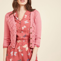 Adored Addition Cardigan in Dusty Rose | Mod Retro Vintage Sweaters | ModCloth.com