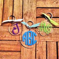 Personalized Monogrammed Acrylic Keychain