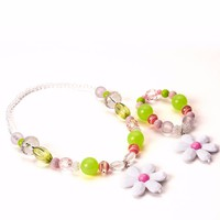 Little Adventures Pink & Lime Chunky Jewelry Set