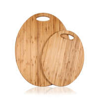 Furnistar 100% Natural Bamboo Chopping Cutting Board, Round
