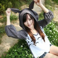 Totoro Cosplay Costume Cute T-shirt Hoodie