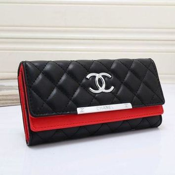 DCCKN6V Chanel Fashion Leather Women Wallets Long thin ladies coin Purse Cards Holder Clutch bag magic Wallet female G-MYJSY-BB