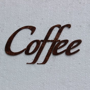 Coffee Word Sign - Kitchen Decor Metal Wall Art