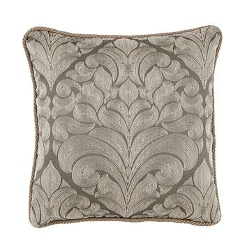 Caterina Nickel Woven Medallion Pillow