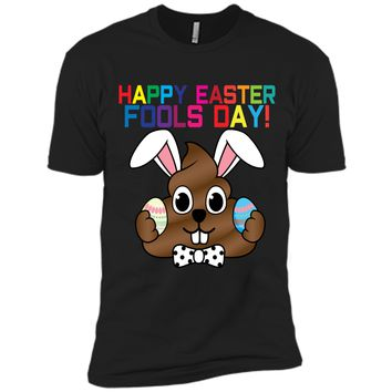 Happy Easter Fools Day Poop Emoji T-Shirt for Easter Gift Next Level Premium Short Sleeve Tee