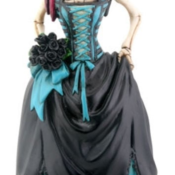 Gothic Bride Skeleton Day of the Dead Statue - T81700