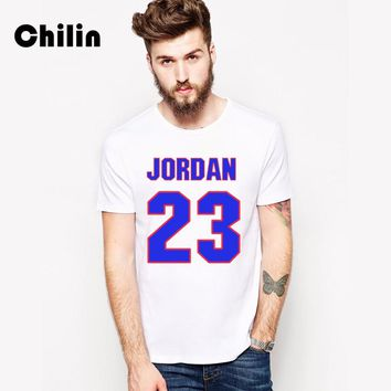 Chilin 100% Cotton T-shirt Men 2017 3XL Tshirt Summer Jordan 23 Clothing T Shirt Murray 22 Tees Shirts Tops Mens Brand Clothing